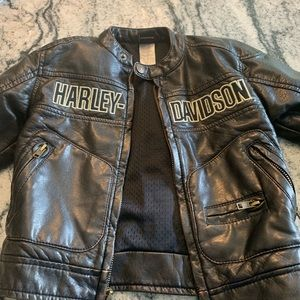 Toddler Harley Davidson faux leather jacket